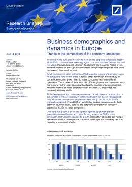 Business demographics and dynamics in Europe