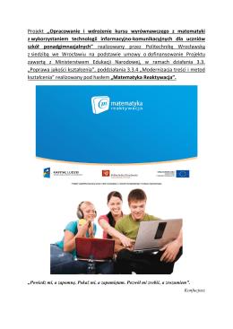 """Projekt """"Matematyka reaktywacja"""".pdf"""