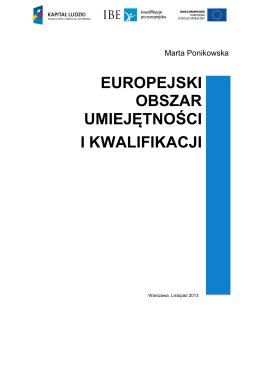 EUROPEJSKI OBSZAR UMIEJĘTNOŚCI I KWALIFIKACJI