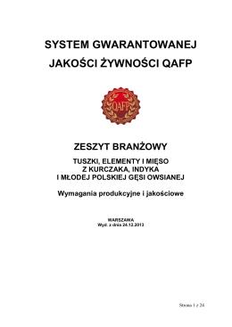 Tuszki, elementy i mięso z kurczaka...24.12.2013