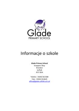 Informacje o szkole - Glade Primary School