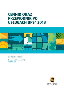 cennik oraz przewodnik po usługach ups® 2013