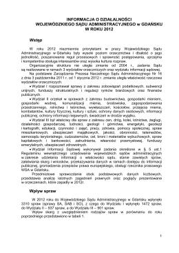 Biuletyn 2012 (PDF) - Wojewódzki Sąd Administracyjny w Gdańsku
