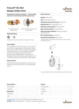 FireLock® V34, K8.0 Modele V3409, V3410