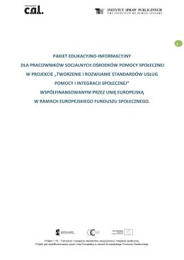 Pakiet informacyjno-edukacyjny - Centrum Wspierania Aktywności