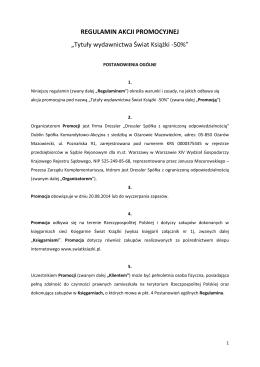 Tytuły wydawnictwa Świat Książki -50%