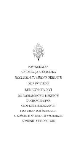 ECCLESIA IN MEDIO ORIENTE BENEDYKTA XVI