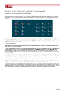 Windows 8 - jak obsługiwać kafelkowy i tradycyjny pulpit