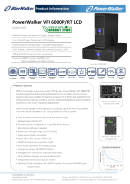 Datasheet - PowerWalker UPS