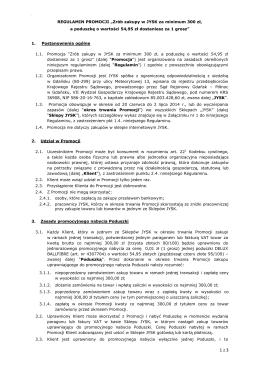 """REGULAMIN PROMOCJI """"Zrób zakupy w JYSK za minimum 300 zł"""