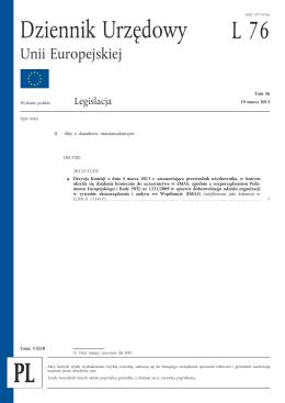 Przewodnik Komisji Europejskiej, w którym określa się