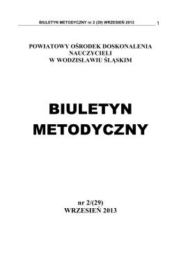 Biuletyn Metodyczny wrzesień 2013