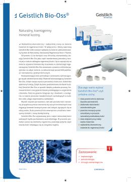 Geistlich Bio-Oss® - FM Dental Produkty Dla Stomatologii