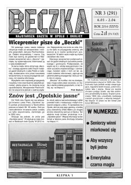 """W NUMERZE: Wicepremier pisze do """"Beczki"""""""