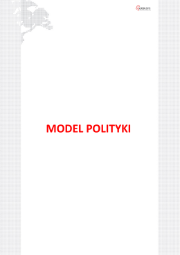 MODEL POLITYKI