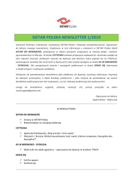 SIETAR NEWSLETTER 1-2010