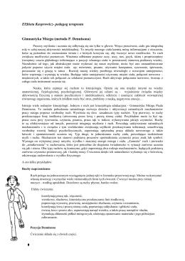 kinezjologia - Fundacja Oczyma Dziecka