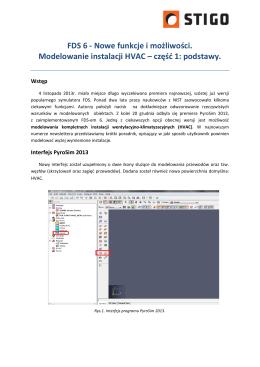Nowe funkcje i możliwości. Modelowanie instalacji HVAC – część 1