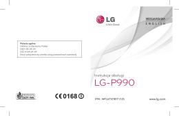 Instrukcja obsługi LG-P990 x2