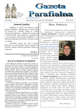 Gazeta Parafialna nr 1/2012