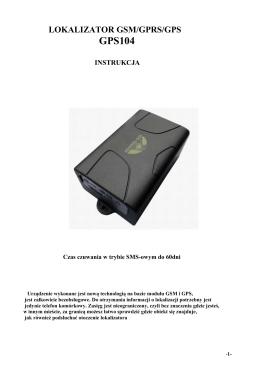 LOKALIZATOR GSM/GPRS/GPS