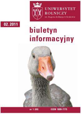 Biuletyn Informacyjny UR w Krakowie nr 1 (68)