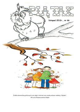 listopad 2012r., nr 66 - Szkoła Podstawowa nr 5 w Słupsku