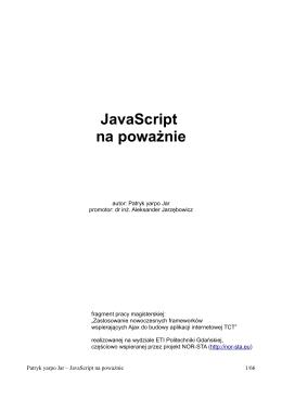 JavaScript na poważnie