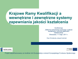 Prezentacja prof. Ewa Chmielecka