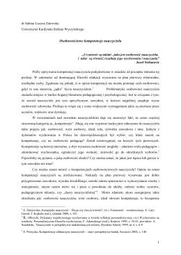 Osobowościowe kompetencje nauczyciela (PDF)