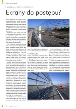 Ekrany do postępu - Artykuł P. Reinharda Kohlhauera