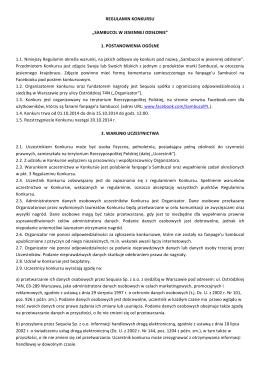Regulamin konkursu Sambucol w jesiennej odsłonie