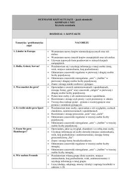 NACOBEZU - kryteria oceniania w klasie pierwszej