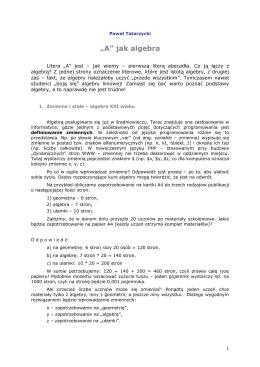 """A"" jak algebra [plik PDF]"