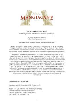 VILLA MANGIACANE - LUXITALYWINE & Co.