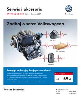 Serwis i akcesoria Zadbaj o serce Volkswagena
