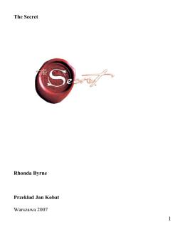 sekret – rhonda byrne