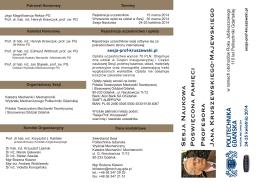 Informacje o Sesji i program ramowy (.PDF)