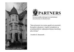 Prezentacja spółki 2C Partners S.A. - rewitalizacja i restrukturyzacja