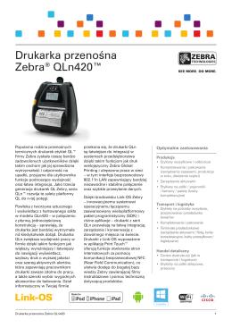 Drukarka przenośna Zebra® QLn420™