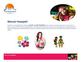 Wieczór Hawajski! - Integracje24.com.pl