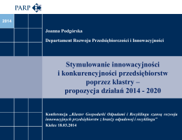 propozycja działań 2014 - 2020
