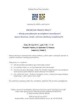 Wardyński i Wspólnicy_Zaproszenie na seminarium_28.05.2014