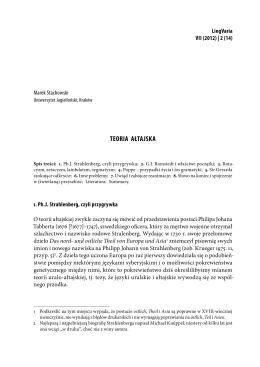 Teoria ałtajska. – LV 7/2 (2012)