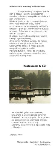 menu - Hotel Galery69