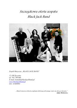 Szczegółowa oferta zespołu Black Jack Band