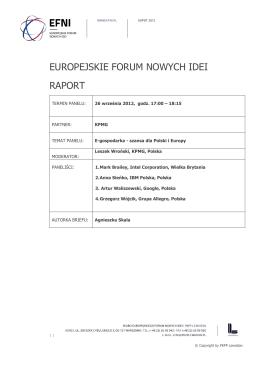 E-gospodarka – szansa dla Europy i Polski