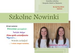 Nr 6(15) marzec 2014 - Zespół Szkół w Malawie