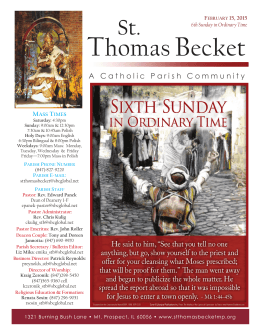 ThomasBecket - St. Thomas Becket Parish