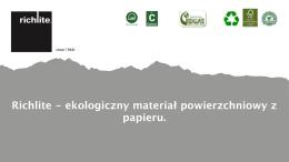 Pobierz - Ekologiczny materiał powierzchniowy z papieru